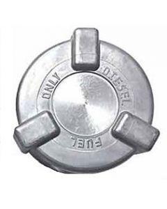 "2"" Aluminum Diesel Fuel Tank Threaded Cap with Tether"