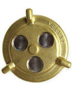"2"" Brass Diesel Fuel Tank Threaded Cap with Tether"