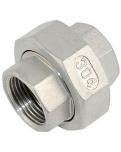 304 SS NPT Union Stainless Steel Class 150 Fitting  - Select Size for Price