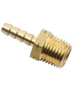 "50 Pack of Brass 3/16"" Hose Barb x 1/8"" NPT Male Pipe Thread Fitting"