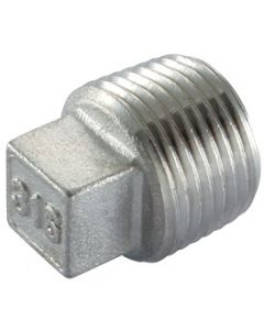 """50 Pack of 1/4"""" NPT Male Plugs 316 Stainless Steel Class 150"""