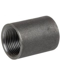 """(25 Pack) Mild Black Steel 1/4"""" NPT Pipe Thread Full Coupling Weld Bungs"""