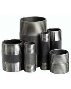 """Black Steel 1-1/2"""" NPT Schedule 80 Threaded Both Ends Pipe Nipple - Select Length for Price"""