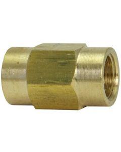 Brass 6mm x M12.10 Metric Female Bubble Brake Line Union Coupler Fitting