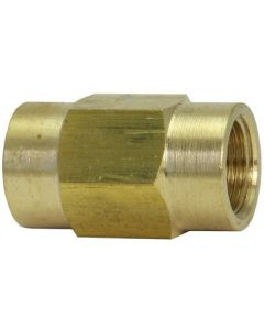 """Brass 3/16"""" Inverted Flare Tube x M10-1.0 Metric Female Thread Union Coupler Fitting"""