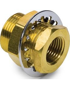 Brass Bulkhead Bushing Fitting - Select Size for Price