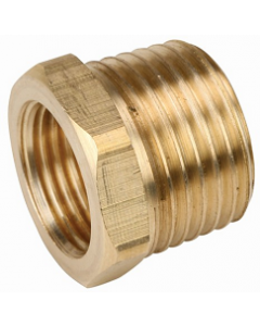 "50 Pack Brass 1/2"" Male x 3/8"" Female NPT Pipe Thread Reducing Hex Bushings - Made in the USA"