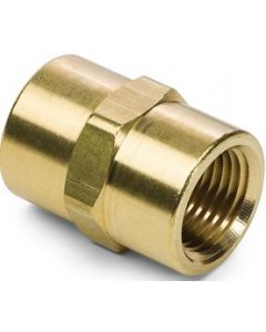 Brass Female FNPT Pipe Thread Hex Coupling - Select Size for Price
