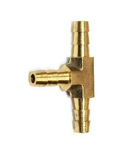 "50 Pack of Brass 1/4"" Barb 3-Way Tee Fitting"