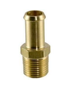 "Brass 1"" Hose Bead Nipple x 3/4"" NPT Male Pipe Thread Fitting"