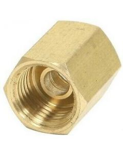 """Brass 1/4"""" Female Inverted Flare Tube Union Coupler Compression Fitting"""