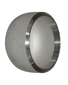 SCH-40 SS 304 Butt Weld Pipe End Cap Stainless Steel Fitting - Select Size for Price