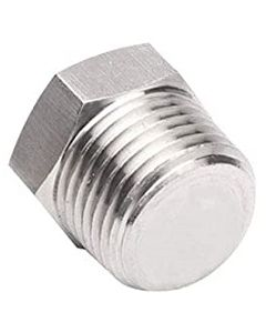 High Pressure 304 SS Hex Head Solid MNPT Plug Forged Stainless Steel Class 3000 - Select Size for Price