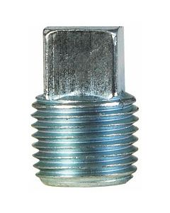 """50 Pack of 1/8"""" NPT Male Square Head Pipe Thread Plugs Galvanized Steel - Made in The USA"""