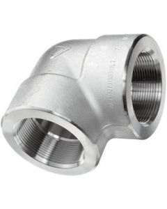 High Pressure 316 SS NPT Female Pipe Thread 90 Degree Elbow Class 3000 Fitting  - Select Size for Price