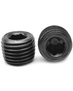 """50 Pack of 1/16"""" NPT Male Recessed Socket Allen Head Pipe Thread Steel Plugs - Made in The USA"""