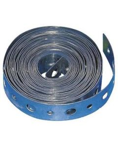 Galvanized Steel Plumbers Hanging Pipe Strap 10-Feet Long 24-Gauge - Made in the USA