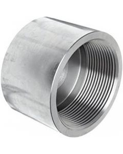 High Pressure 304 SS Female Pipe Thread FNPT End Cap Forged Stainless Steel Class 3000 Fitting - Select Size for Price