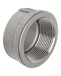 304 SS Female Pipe Thread FNPT End Cap Stainless Steel Class 150 Fitting - Select Size for Price