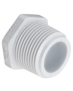 Male Pipe Thread Plug Schedule 40 PVC Fitting  - Select Size for Price - Made in the USA