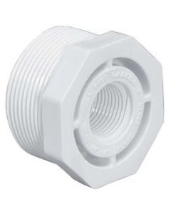 Threaded Reducing Hex Bushing Schedule 40 PVC Fitting - Select Size for Price - Made in the USA