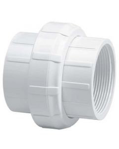 Threaded Female Union Schedule 40 PVC Pipe Fitting  - Select Size for Price - Made in the USA