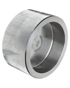High Pressure 304 SS Socket Weld Pipe End Cap Forged Stainless Steel Class 3000 Fitting - Select Size for Price