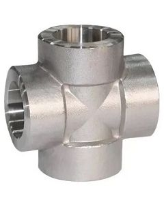 High Pressure 304 SS Socket Weld 4-Way Cross Class 3000 Forged Stainless Steel Fitting  - Select Size for Price