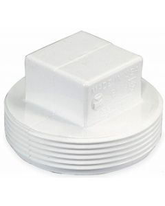 Male Pipe Thread Square Head Cleanout Plug Schedule 40 PVC Fitting  - Select Size for Price - Made in the USA