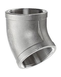 304 SS NPT Female Pipe Thread 45 Degree Elbow Class 150 Fitting  - Select Size for Price
