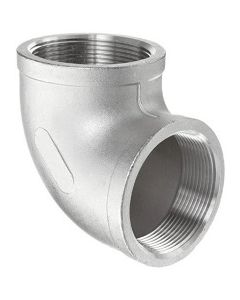 304 SS NPT Female Pipe Thread 90 Degree Elbow Class 150 Fitting  - Select Size for Price