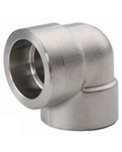 High Pressure 316 SS Socket Weld 90 Degree Elbow Class 3000 Forged Stainless Steel Fitting  - Select Size for Price