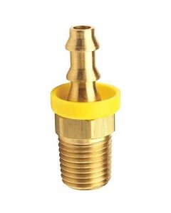 """(25 Pack) Brass 1/4"""" Hose Barb x 1/8"""" NPT Male Pipe Thread Stay-Put Push-On Lock Fitting"""