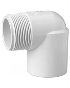 Threaded 90 Degree Street Elbow Schedule 40 PVC Fitting - Select Size for Price - Made in the USA
