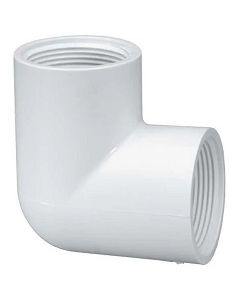 Threaded Female Pipe 90 Degree Elbow Schedule 40 PVC Fitting  - Select Size for Price - Made in the USA