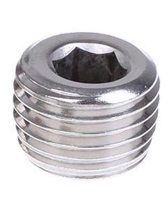 Zinc Coated Steel Socket Allen Head Solid MNPT Plug - Select Size for Price